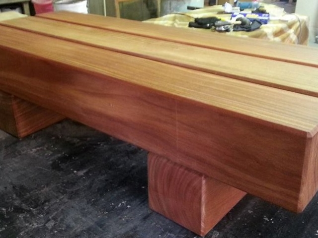 Wharf seat solid tonka timber available from Tradeware Building Supplies Chandler Brisbane