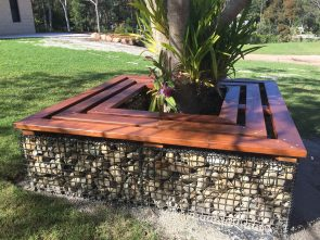 Jason & Lauren Alexander D.I.Y Outdoor Seat. Tradeware Building Supplies are timber and hardware specialists in Brisbane.