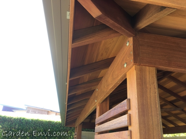 F27 kiln Dried Spotted Gum Rafters, Beams and Rafters Garden Envi and supplied by Tradeware Building Supplies, Brisbane