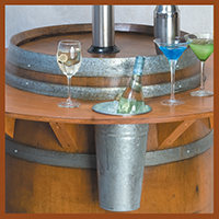 Custom Timber Products - image Heater-Barrel-with-Drinks on http://tradewarebuildingsupplies.com