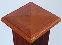 Hardwood Post Caps - image Post-Cap on https://tradewarebuildingsupplies.com