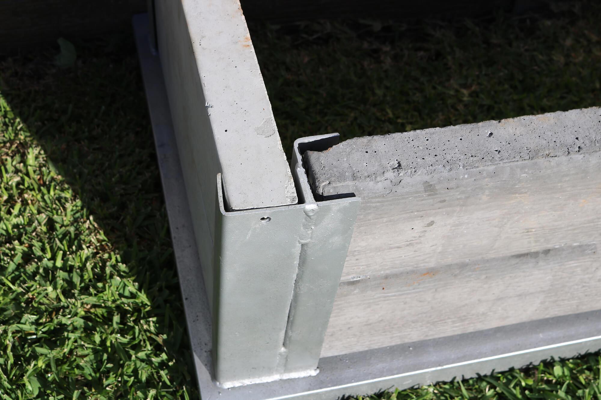 90 Degree Corner Concrete