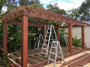 Garden Envi's Gorgeous Gazebo During Construction
