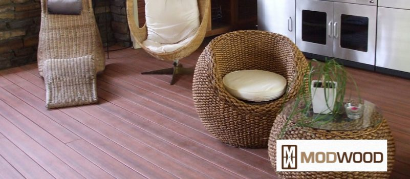 Modwood Decking eco friendly, low maintenance decking available from Tradeware Building Supplies, Chandler, Brisbane