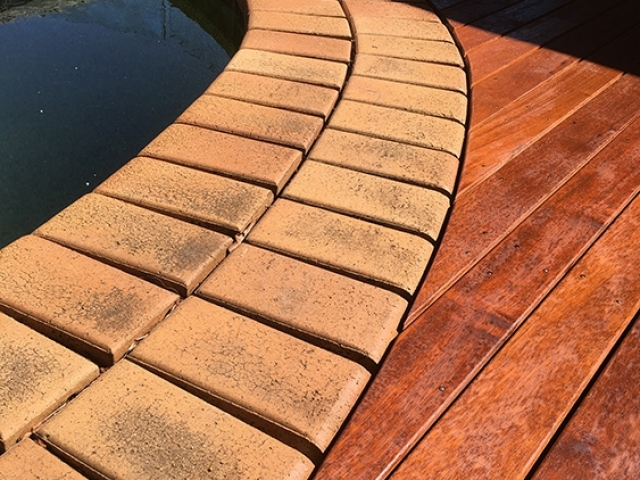 Merbau Decking and Posts used on a Pergola built by Garden Envi