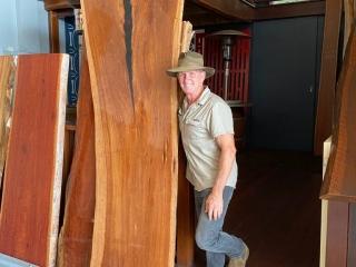 Timber Slabs - image Ironbark-Slab-fully-resined-2.8m-long-x-approx-900m-wide-tw-768x1024-320x240_c on https://tradewarebuildingsupplies.com