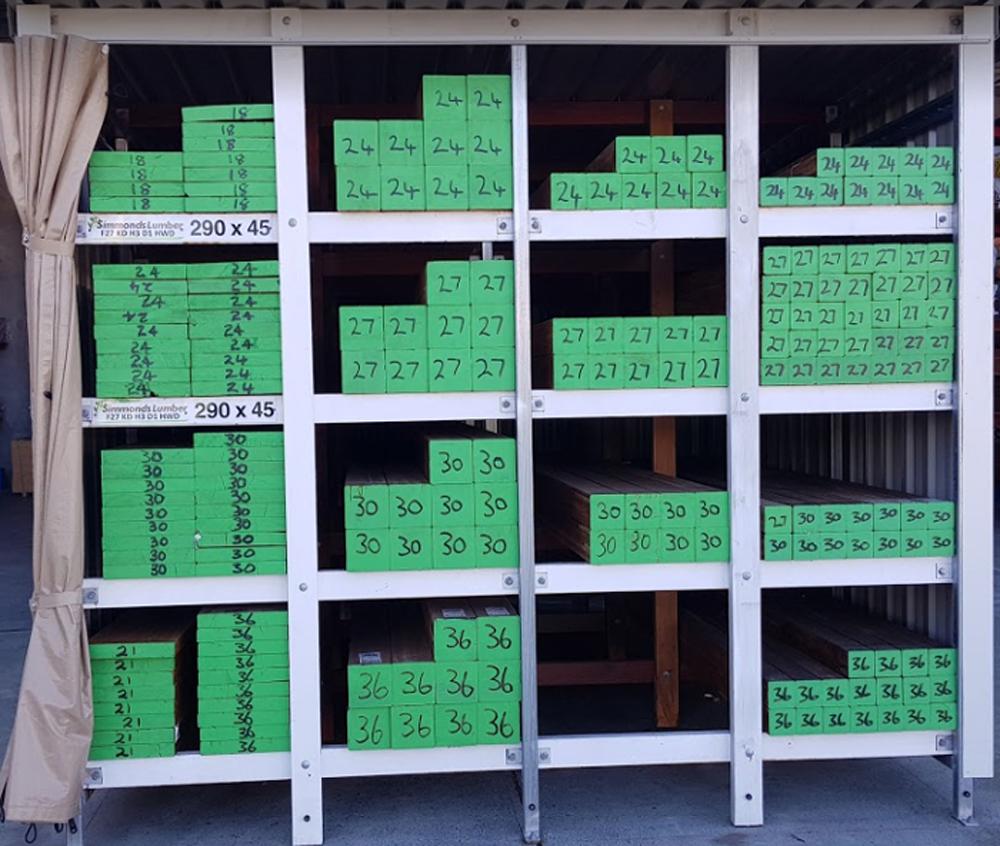 Structural Hardwood Timber Posts - image Laminated-Spotted-Gum_Timber-Racks_Tradeware-Building-Supplies-1 on https://tradewarebuildingsupplies.com
