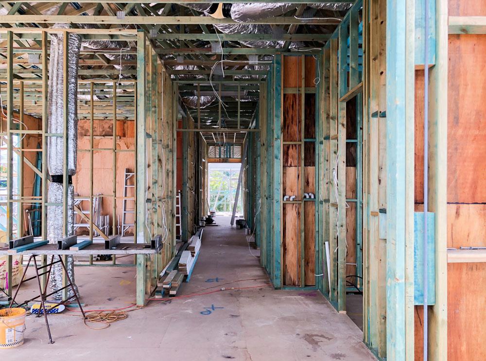 Machine Grade Pine House Framing