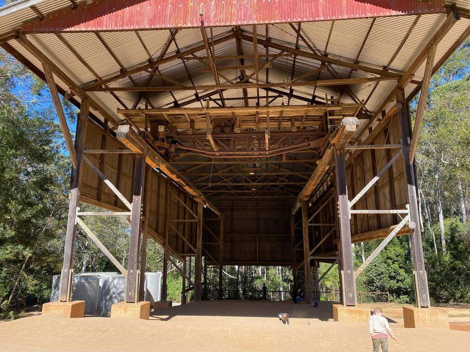Old Sawmill Gantry Crane - D Aguilar National Park
