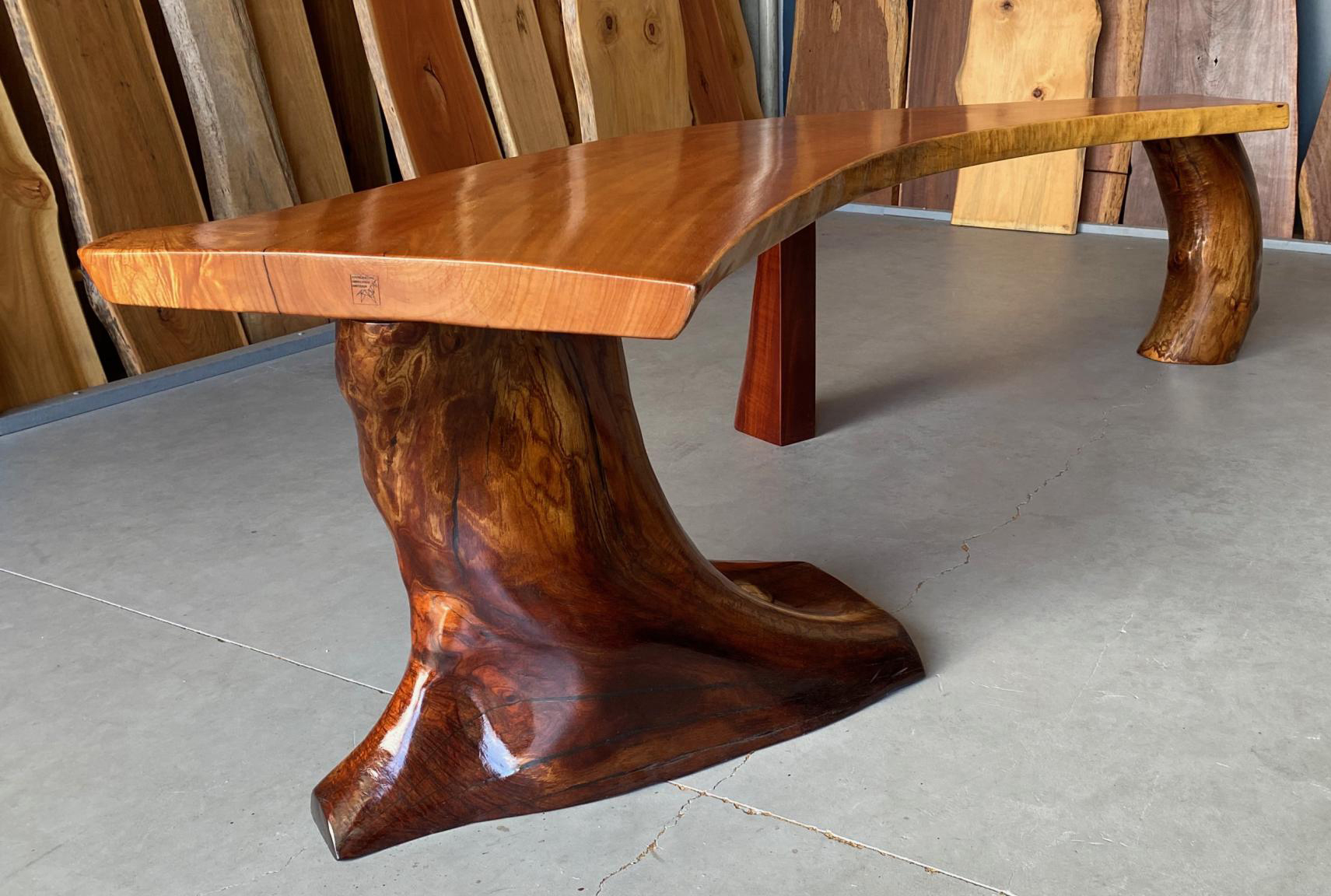 Queensland Red Cedar Slabs available at TRADEWARE Building Supplies