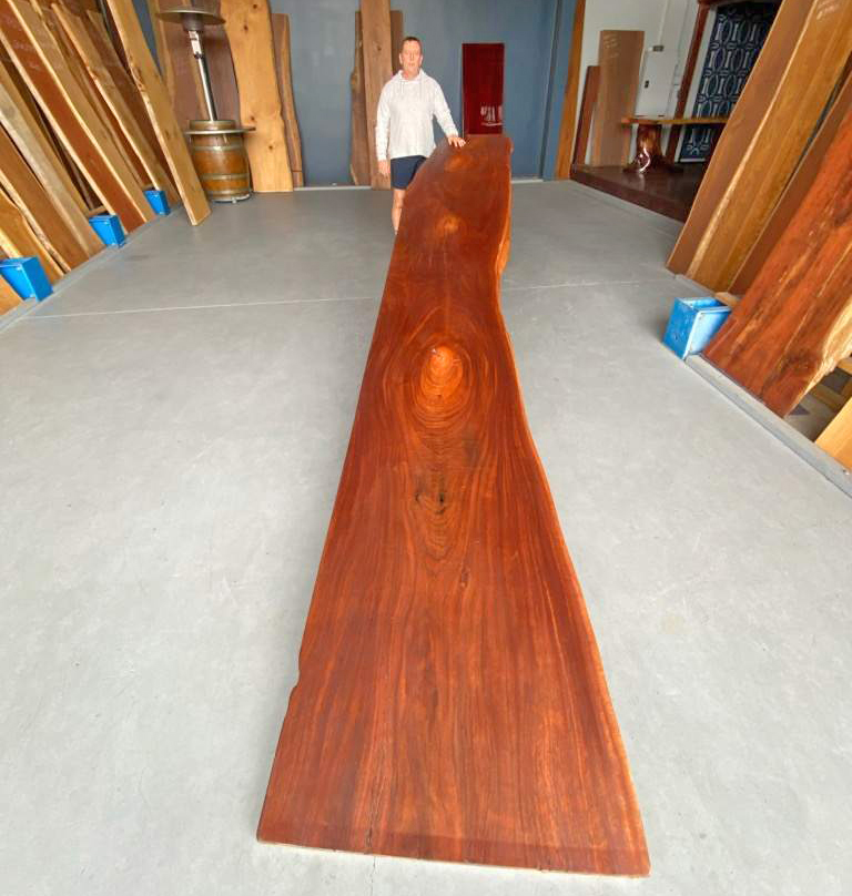 Amazing Queensland Red Cedar Timber Slab available from Tradeware Building Supplies